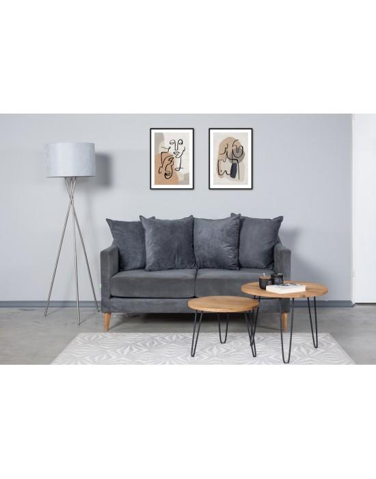 OSLO NEW (154cm) dviviete sofa 4 pagalvės