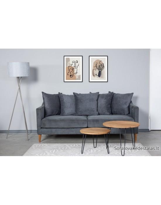 OSLO NEW (194cm) triviete sofa 5 pagalves
