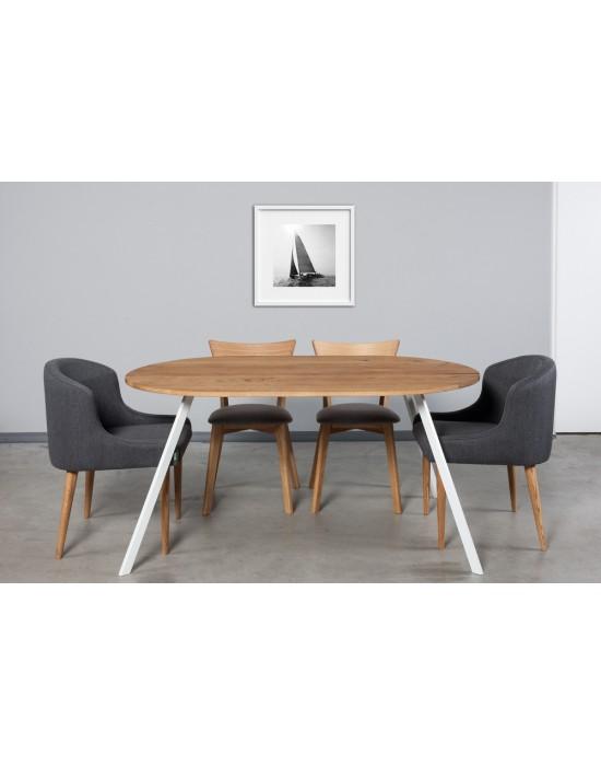 TORI OVAL 160x100  ovalus ąžuolinis stalas