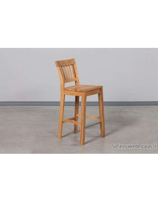 Pilnai ąžuolinė pusbario kėdė EKHOLM