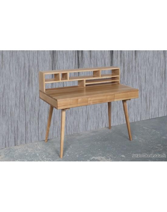 RETRO  (120x65) su kebtynom ąžuolinis darbo stalas