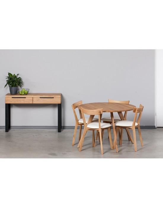 OAKY Ø110 apvalus ąžuolinis stalas