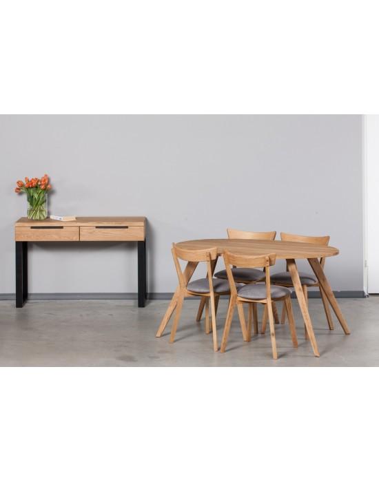 OAKY  ELIPSE 140x90 ąžuolinis ovalus stalas