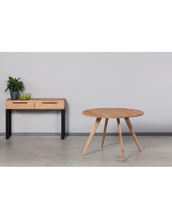 OAKY Ø100 apvalus ąžuolinis stalas
