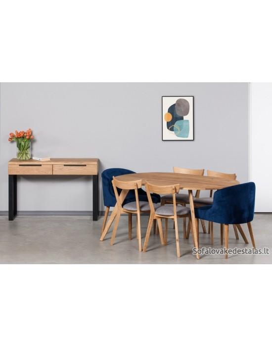 OAKY  OVAL 160x100  ovalus ąžuolinis stalas